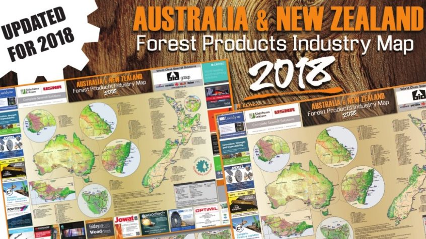 New Zealand Australia Map.New Australia New Zealand Forest Products Industry Map Released
